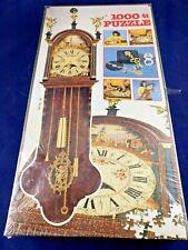 VINTAGE Jumbo Working Clock Jigsaw Puzzle 1000 Pieces. Quartz Mechanism