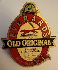 Vintage Pump Clip Badge Everards Old Original Ale Breweriana Decor - Free Ship!