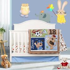 Sports Crib Bedding Set 4Pcs for Boys ,Baby Nursery Bedding Sets with Comforter