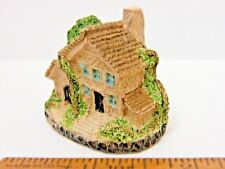 English Cottage Figurine - Stone Resin - Vintage