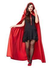 Spirit Halloween Red Satin Hooded Women's Cape floor length polyester