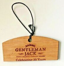 30 Years of Gentleman Jack Daniels wood hang tag from White Rabbit Bottle Shop