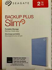 BRAND NEW IN BOX Seagate Backup Plus Slim Portable External Hard Drive 2 TB Blue