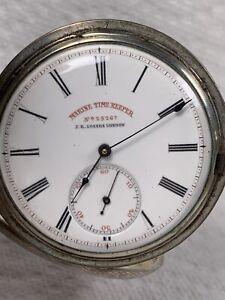 J R LOSADA London Pocket Watch Marine Time Keeper, Keyless Wind, 13 Jewels