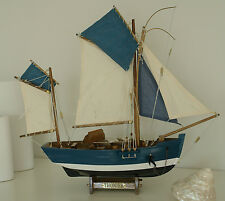 """Fischerboot """"Thonier"""" Kutter Boot Fischen Maritim Schiff Dekoration Neu No.37"""
