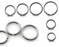 Nose Ring Hoop Surgical Steel 20g 0.8mm 6, 8, 10mm Septum Helix Tragus Eyebrow