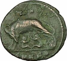 "Constantine I The Great Ancient Roman Coin Romulus & Remus ""Mother"" wolf  i39886"