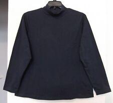 Croft & Barrow Size 1X Navy Blue Mock Turtleneck Knit Top, long sleeves NWT