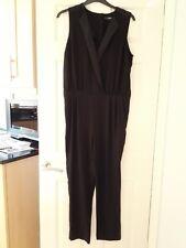 5e1f7c4e92 Next Ladies Size 16 Black V Neck Sleeveless Jumpsuit with Satin Trim BNWOT