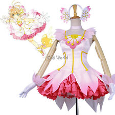 Cardcaptor Sakura Clear Card Kinomoto Sakura Cosplay Costume Dress Ball Gown