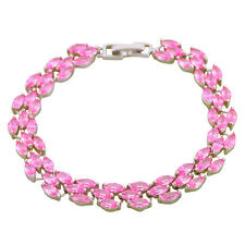 TBS1124 Classic Pink Topaz Silver Plated  Fashion Jewelry Bracelets for Women