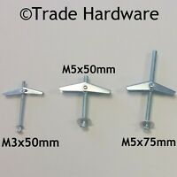 Spring Toggle Plasterboard Wall Plug Fixings Cavity Ceiling Anchor Trade Fix