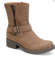 NEW BORN B.O.C. LEVANZO ANKLE BOOTS ZIP SIDES WOMENS 9 LIGHT BROWN LATTE Z23541