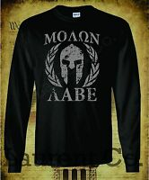 MOLON LABE COME AND TAKE THEM AR15 LONG SLEEVE T-SHIRT 2ND AMENDMENT 3 PERCENT