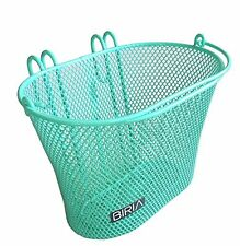Basket with hooks Green Front  Removable Children wire mesh SMALL Bicycle bas...