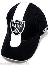 Oakland Raiders NFL Reebok Sideline Hat Cap Black / White Skunk Stripe OSFA
