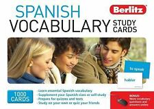 Spanish Vocabulary Study Cards