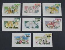Thailand Scott #1438-1445 POSTCARDS (8) Orchids Flowers FLORA $$