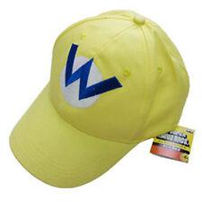 Super Mario Bros Wario  Bad Mario W Letter Cap Sport Baseball Hat Summer Yellow