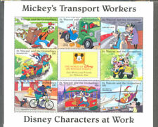 Disney-Mickey Mouse-Transport Workers  sheet mnh-Cartoons-Animation