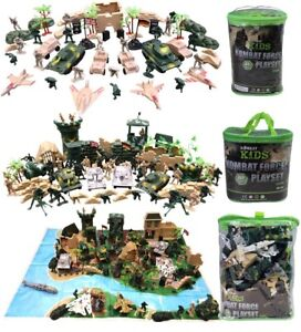 KombatUK Kids Childs Army Men Toy Soldier Battle Pack Kit 5 Choices of Play Sets