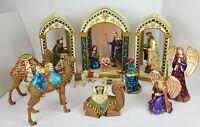 Rare Hawthorne Village Jeweled Heaven's Radiant Glory Nativity Kings Camel Angel