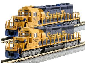 Kato N Scale SD40-2 2 Locomotive Set ATSF #5072 #5088 DCC Ready 1768209 1768210