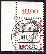 32) Berlin 100 Pf. Frauen  825 Eckrand Ecke 1 E1 EST Weiden mit Gummi selten!!