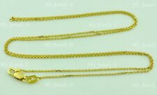 1.70 gram 14k solid yellow gold cable link chain necklace 20 inch #6165 lobster
