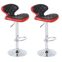 2 X Unique Modern Saturn PU Leather Swivel Kitchen Breakfast Bar Stools