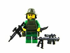 Special Forces Sniper Green Army Minifigure (SKU48) made with real LEGO® minifig