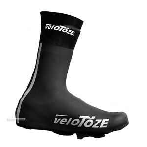 veloToze NEOPRENE SHOE COVERS Windproof Waterproof Cycling Booties : BLACK