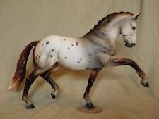 Breyer Totilas Warmblood CM/Custom Dappled Mulberry Appaloosa Horse Statue OOAK