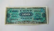 1944 France 100 Francs Banknote Allied Military Money WW II KM 118a