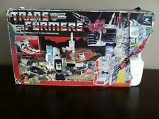 Transformers Hasbro 1985 G1 Metroplex Not Complete look! With Box And Insert
