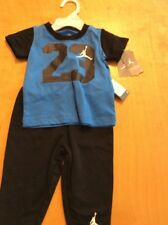 $38 Boys nike black sweat pants  &  blue  T shirt size 18 months Bx 1