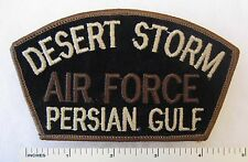 US AIR FORCE DESERT STORM PERSIAN GULF PATCH for CAP / HAT Tan on Black