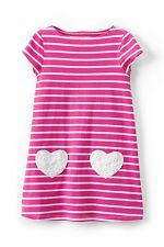 Lands' End Girls XL 16 Pink & White Stripes Legging Top Tee Tunic100% Cotton NWT