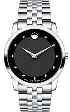 Movado Museum Classic 0606878 Black Stainless Steel Men's Swiss Quartz Watch