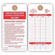 Fire Extinguisher Recharge Cardstock Tag, Colored 13pt Cardstock, 100 TagsEM343C