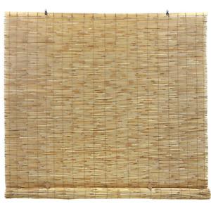 Bamboo Interior/Exterior Manual Roll-Up Shade Cordless Light Filtering 48 x 72
