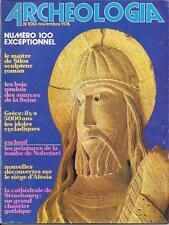 ARCHEOLOGIA 11-1976 Idoles CYCLADIQUES, NOTRE-DAME de STRASBOURG, SILOS, MALLAHA
