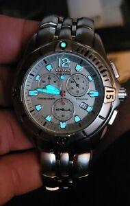 Citizen Titanium Eco-Drive Chronograph Men's Watch H500-S012031 HST Gray Dial