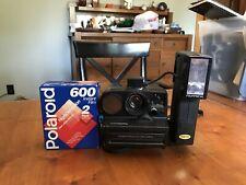 Vintage Polaroid SX-70 Land Camera Pronto SE AutoFocus W/2350 Flash
