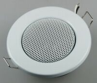Lautsprecher Einbaulautsprecher Deckenlautsprecher Halogen-Look 8cm Ø, 6cm weiß