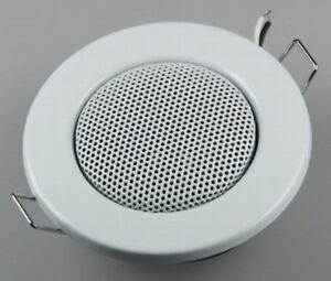 "Ceiling Speakers "" Mini "" Halogen - Look, 8cm Ø, 6cm Installation, White"