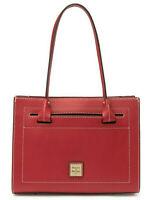 Dooney & Bourke Beacon Janine Leather Satchel Tote Shoulder Bag in Red