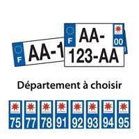 Plaques d'immatriculation plexiglass voiture 4x4 département logo Ile de France
