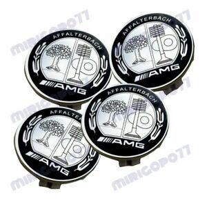For Wheel Center Caps AMG Affalterbach Emblem 75MM Mercedes Benz Wreath Rim New