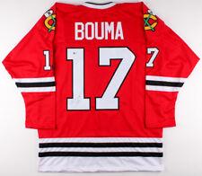 Lance Bouma Signed Chicago Blackhawks Jersey (Beckett COA) Center